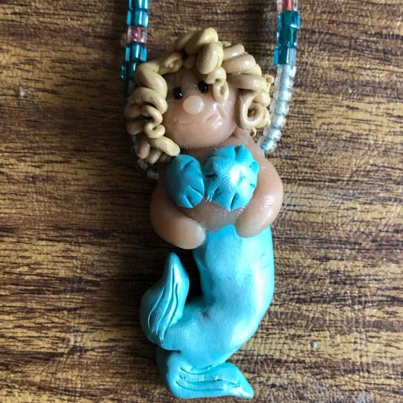Blonde Mermaid Necklace